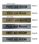 First Aid Room  Door Nameplate | slide in or fixed room sign